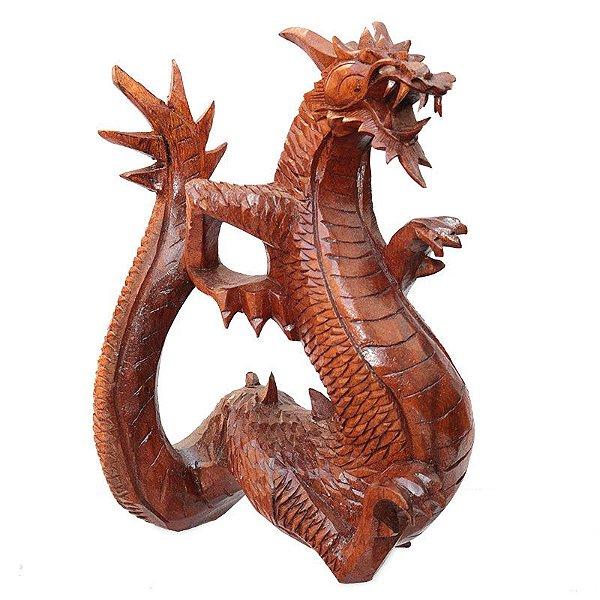 Escultura Dragão Alado 30cm - Bali