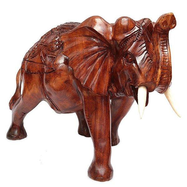 Elefante em Madeira Suar 40x60cm