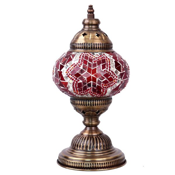 Abajur Turco Mosaico Red 28cm