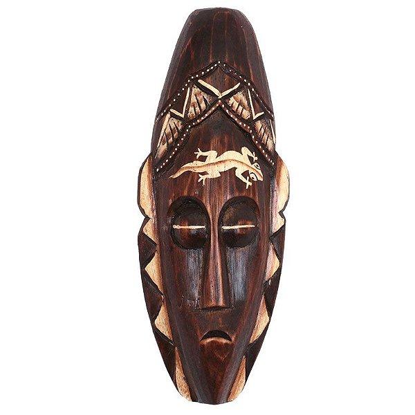 Máscara Bali em Madeira Entalhada