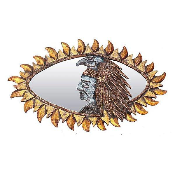 Moldura Índio Xamã c/ Espelho 70cm