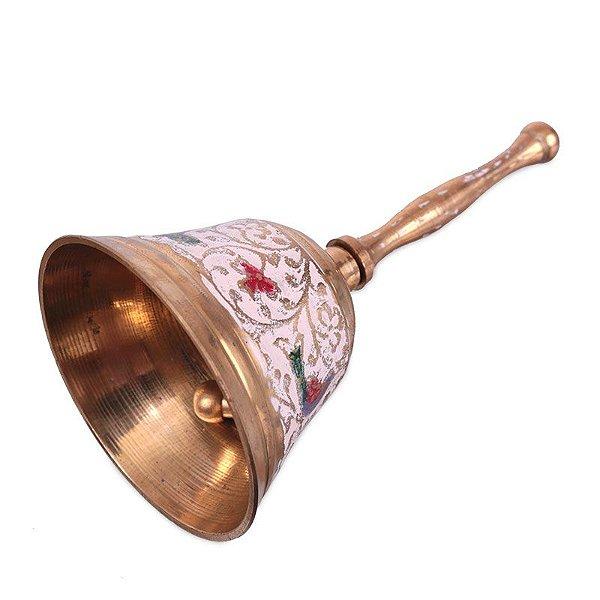 Sino Decorativo Dourado de Metal 13cm