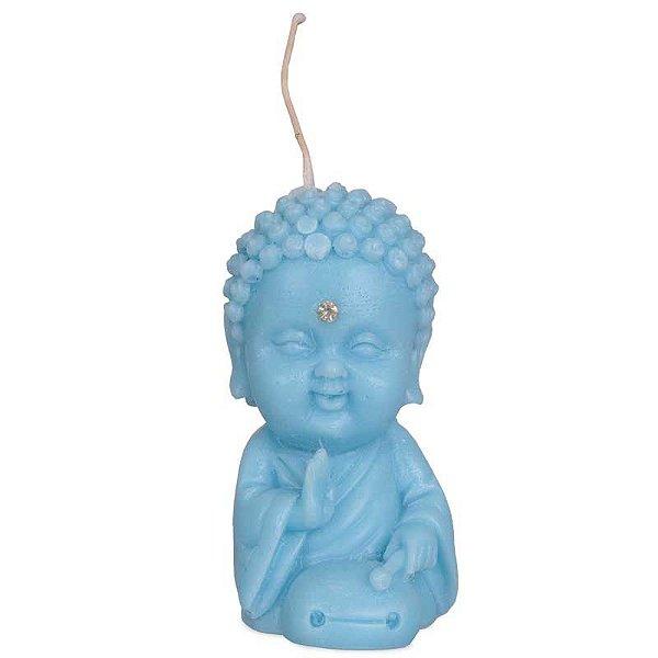Vela Monge Budista 10cm - Azul
