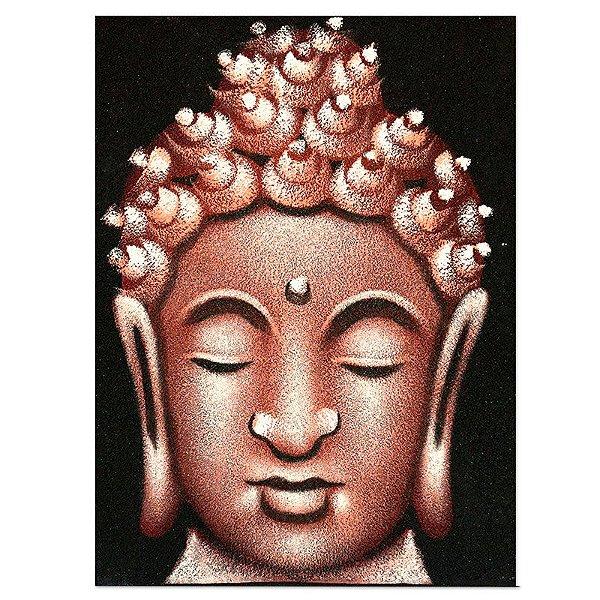 Pintura em Tela Buda Vermelho 40x30cm