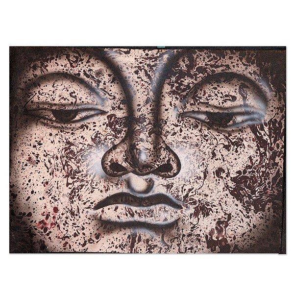Pintura em Tela Olhar de Buda 40x30cm - Bali