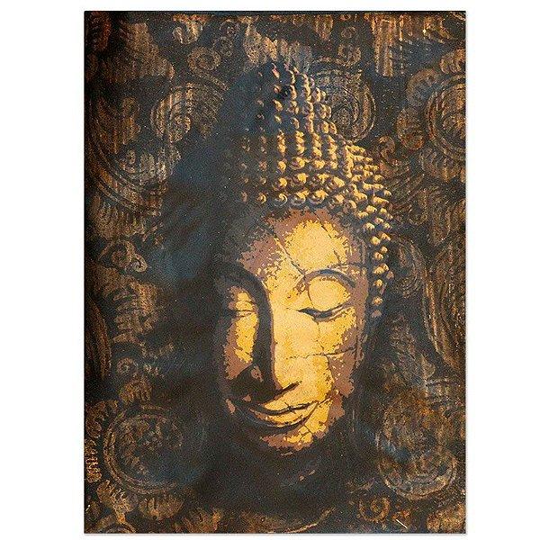 Tela Facial Buda Amarelo 40x30 - Bali