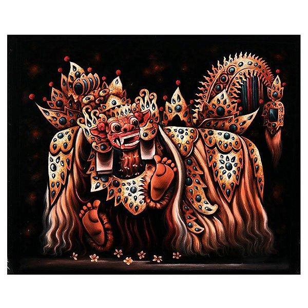 Tela Escura Deus Barong 120x100cm - Bali