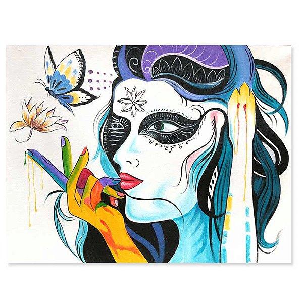 Tela Mulher Maquiada 90x70cm - Bali