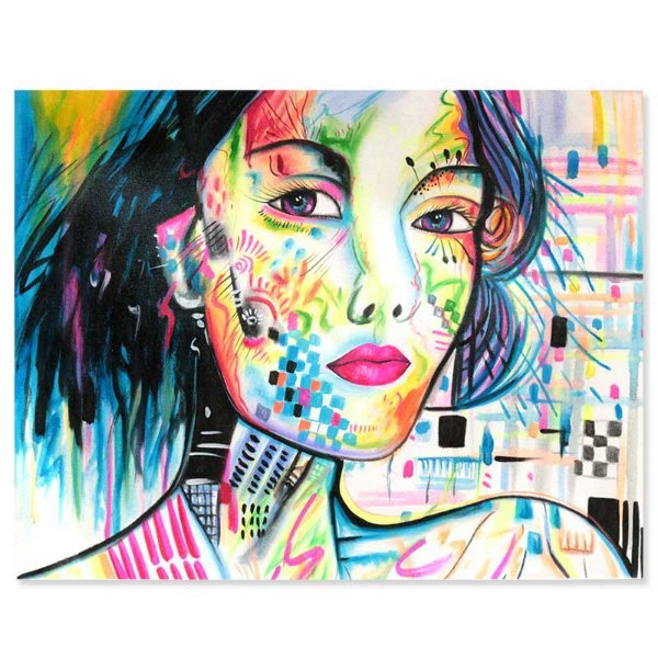 Tela Facial Mulher Balinesa 90x70cm