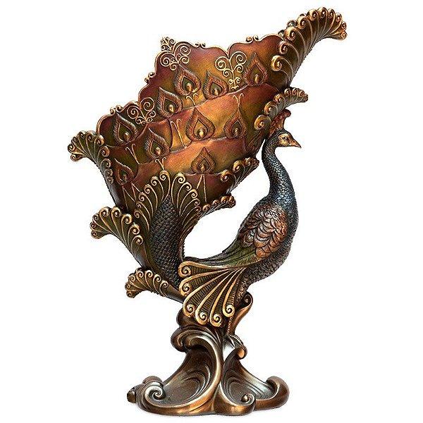 Porta Vinho em Resina Bronze