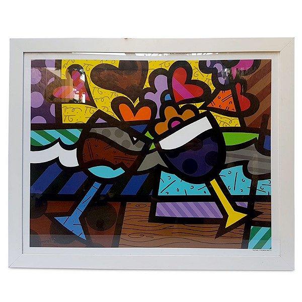 Quadro Colorido Romero Britto 66x82cm