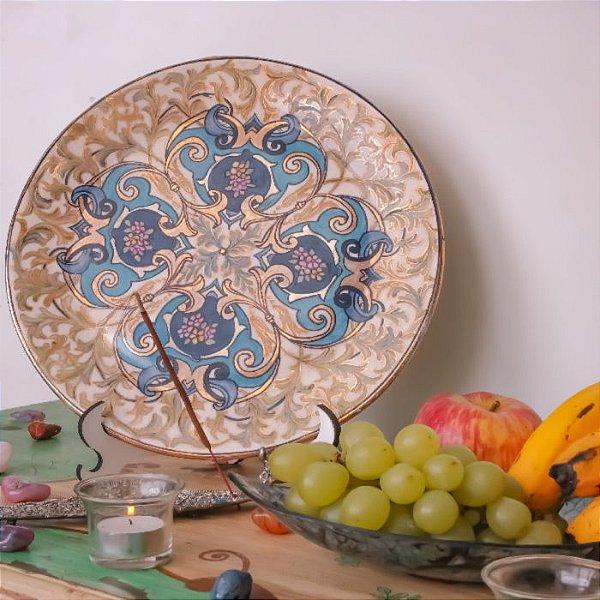 Prato Decorativo de Porcelana Floral