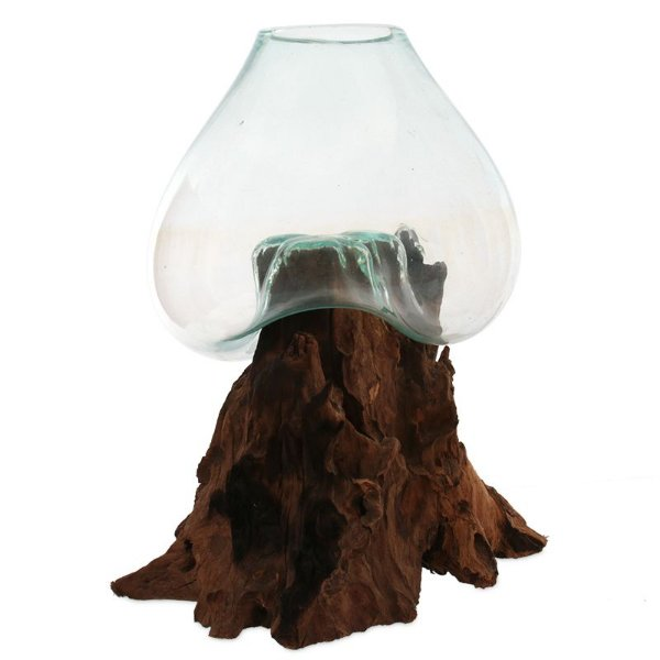 Vaso / Aquário Vidro Soprado 57x37cm