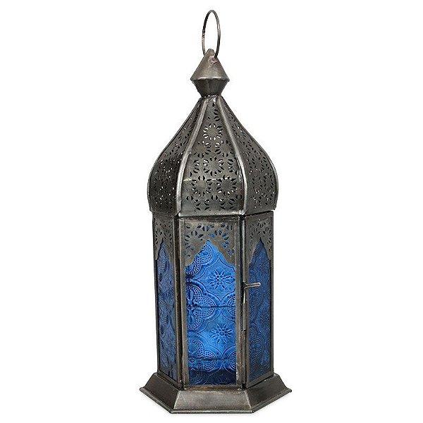 Lanterna Decorativa Azul Indiana