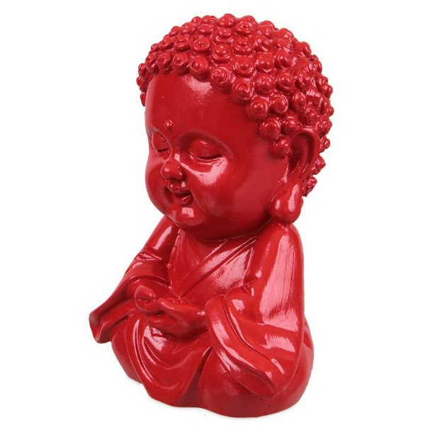Monge Budista Vermelho 09cm