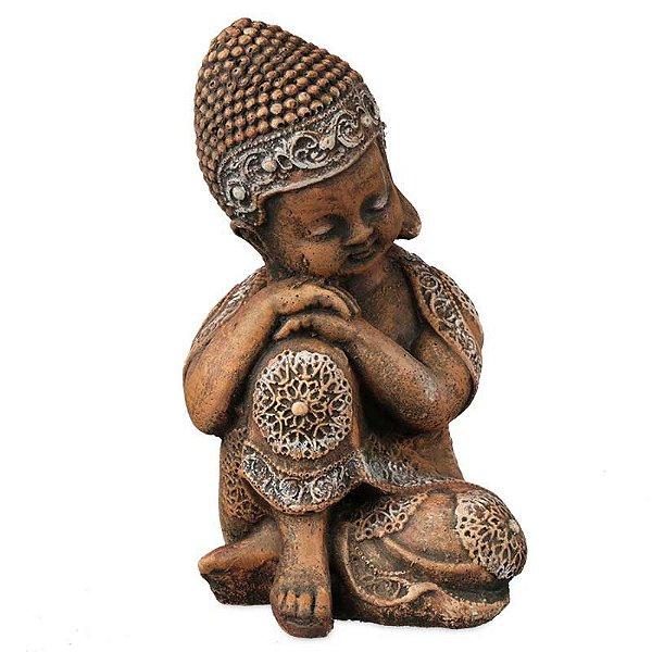 Monge Budista em Pedra