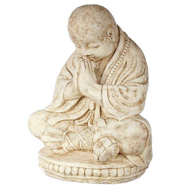 Escultura Buda Orando em Cimento 40cm | Bali