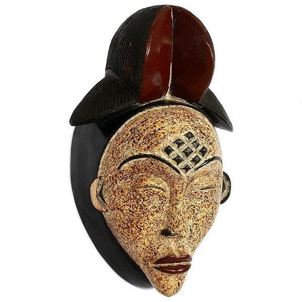 Máscara Africana em Madeira p/ Decoração 36cm