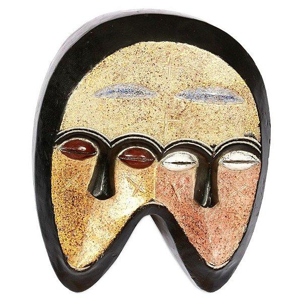 Máscara Africana em Madeira 02 Faces - 39cm