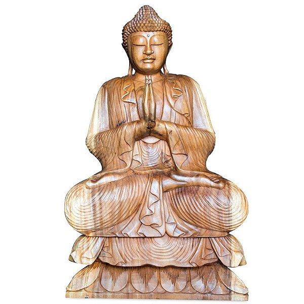 Estátua Buda em Madeira Suar 96cm | Bali