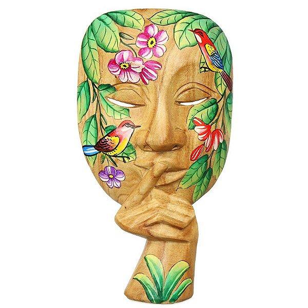 Máscara Teatro Grego Silêncio   Bali