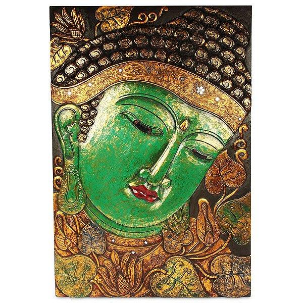 Quadro Buda Verde em Madeira 125cm | Bali