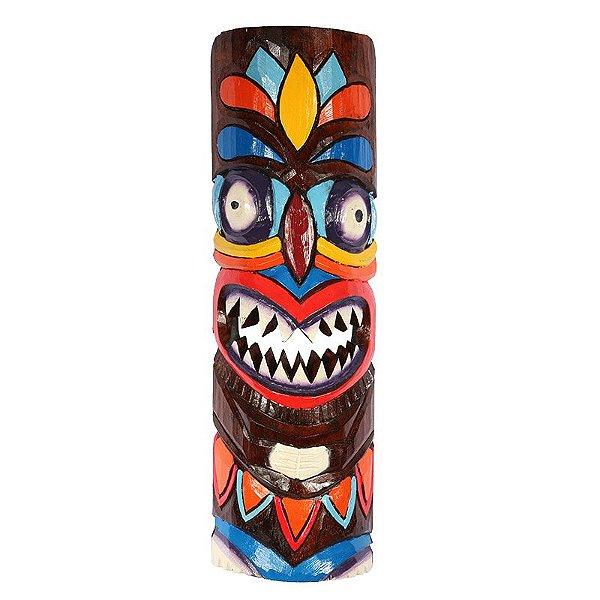 Mscara de parede havaiana tiki totem 50cm arte sintonia artes mscara havaiana tiki totem color 50cm stopboris Images