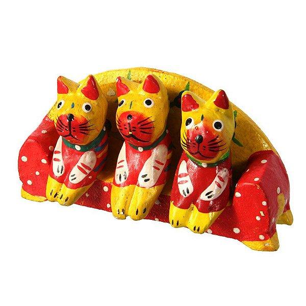 Trio Gatos Amarelos no Sofá   Bali