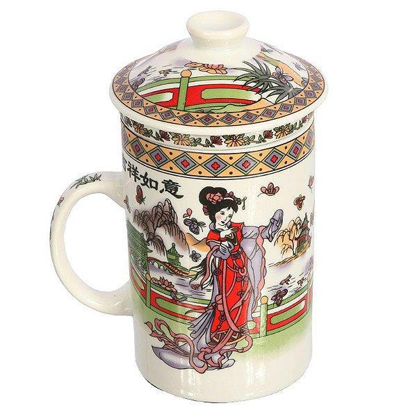 Xícara de Chá em Cerâmica | Gueixa