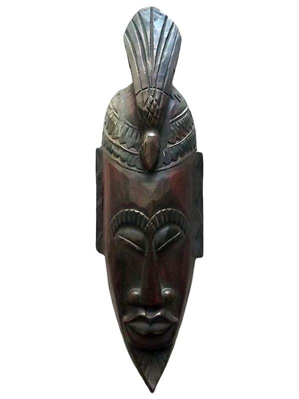 Máscara em Madeira p/ Decoração Paredes 50cm - Arte Africana