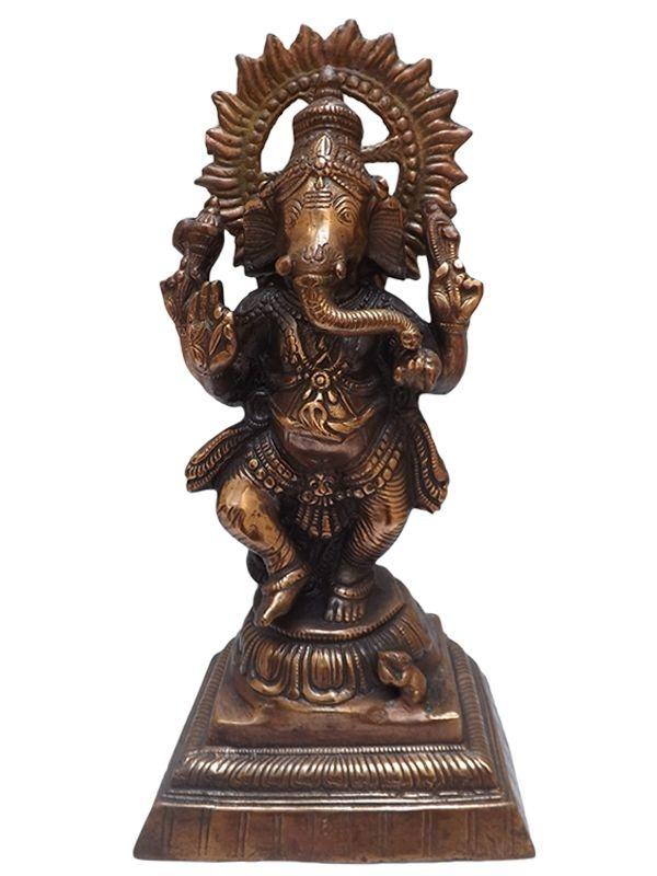 """Escultura de Bronze """"Lord Ganesha"""" 40x20cm - Artesanato Bali"""