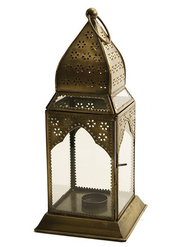 Lanterna Decorativa Marrakesh - Ishwara Dourada 34cm