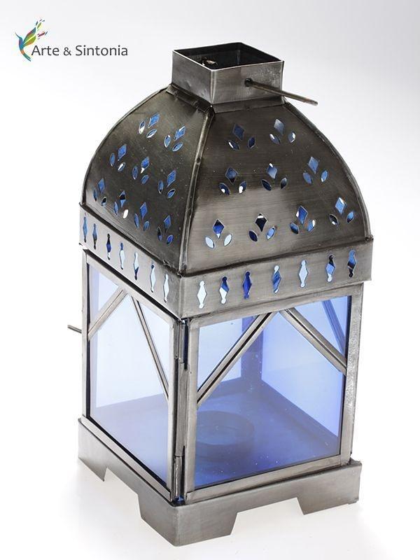 Lanterna Decorativa Marrakesh - Dhyana Azul 24cm