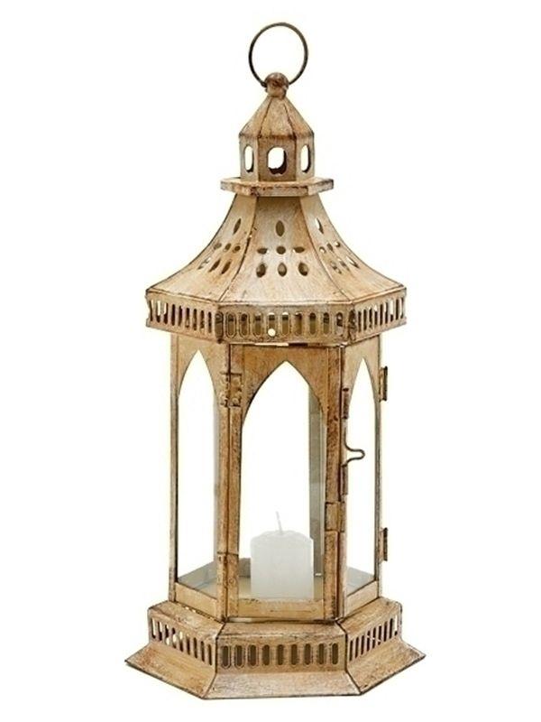 Lanterna Marroquina Rústica p/  Velas 34cm