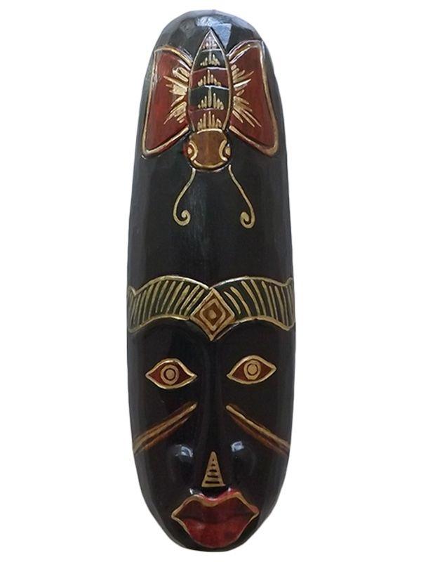 Máscaras Decorativas em Madeira Bali 30cm - Diversas Opções