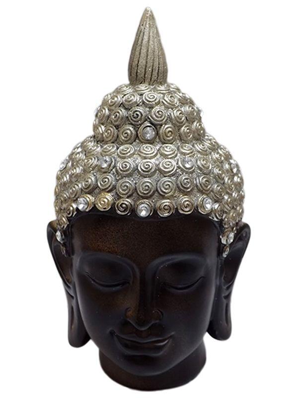 Cabeça de Buda em Resina 20cm