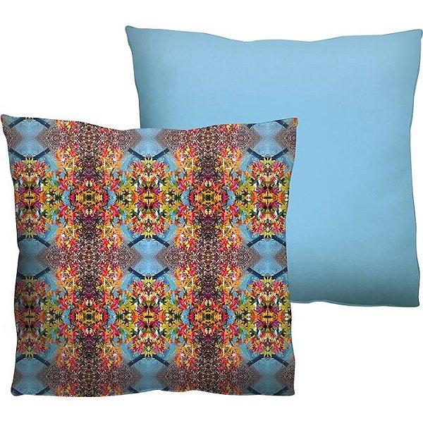 """Capa de Almofada """"Color Nature Azul"""" 45x45cm"""
