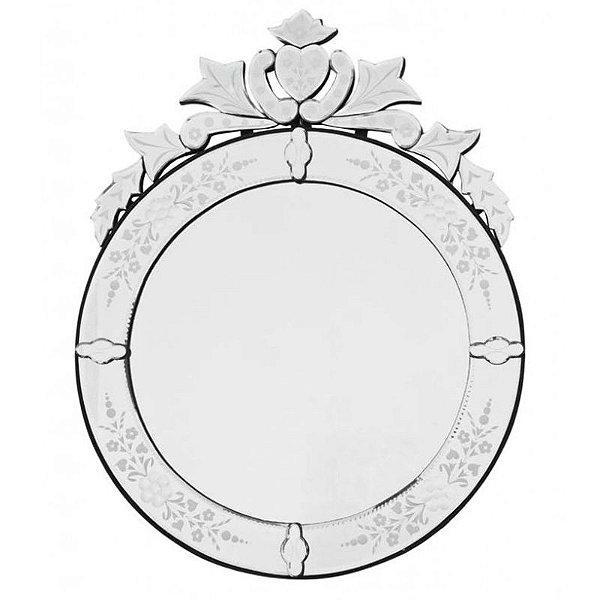 Espelho Veneziano Redondo p/ decoração - 79x62cm