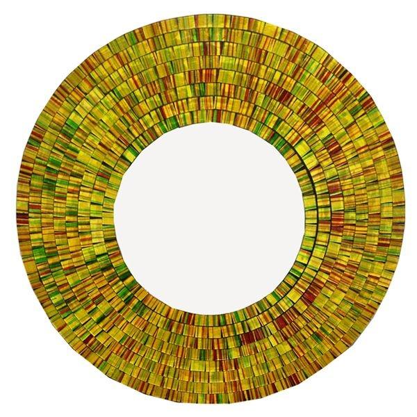 Espelho Redondo c/ Moldura Mosaico Diversos 60cm - Arte Bali