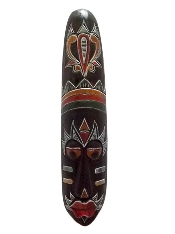 Máscara em Madeira p/ decoração Kyan - Artesanato Bali 50cm