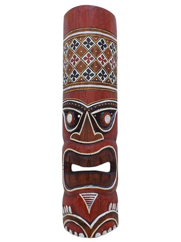 Máscara Totem Hawaiano em Madeira 50cm