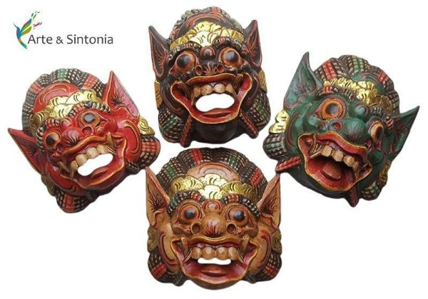 Máscara Barong 25cm - Protetor de Bali