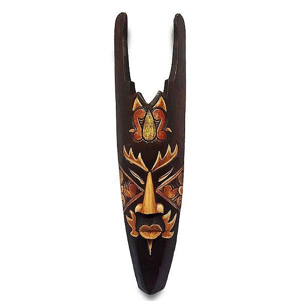 Máscara em Madeira p/ Decoração Prada 50cm