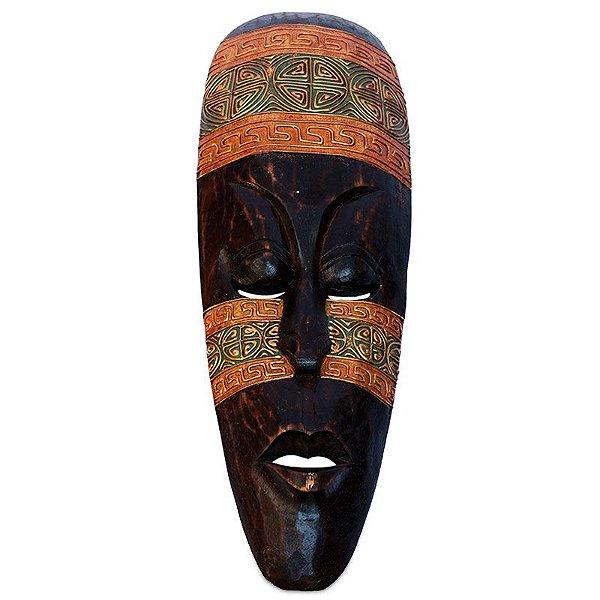Máscara em Madeira 50cm - Lombok