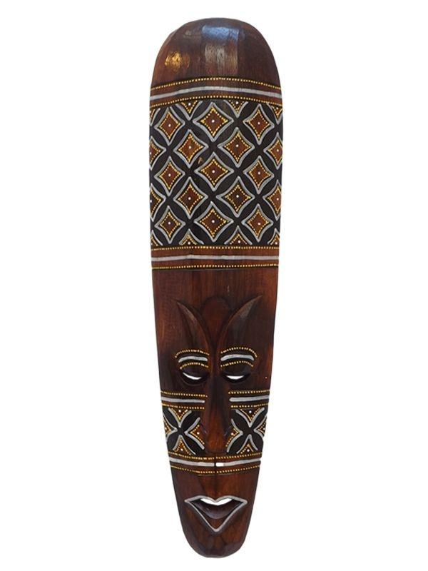 Máscara Decorativa Lombok em Madeira 50cm