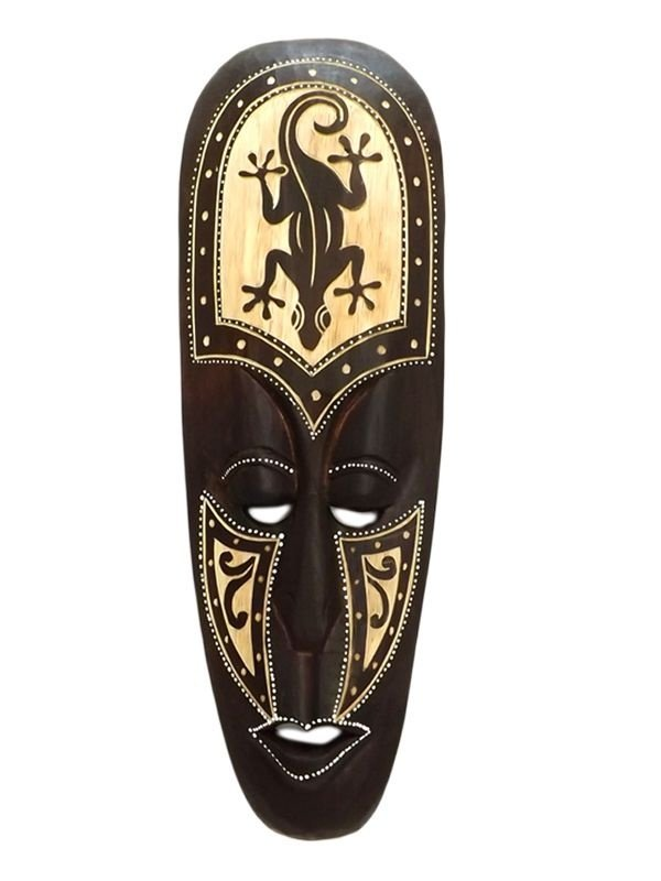Máscara Lombok em Madeira 50cm