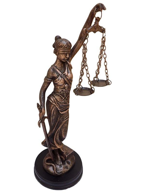 """Deusa da Justiça """"Têmis"""" em Resina"""