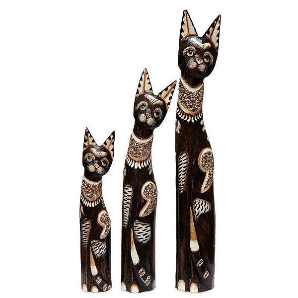 Trio de Gatos Bali 100/80/60cm