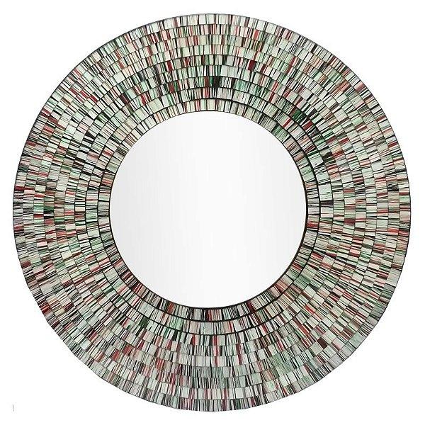 Espelho Decorativo c/ Moldura Mosaico 60cm - Arte Bali