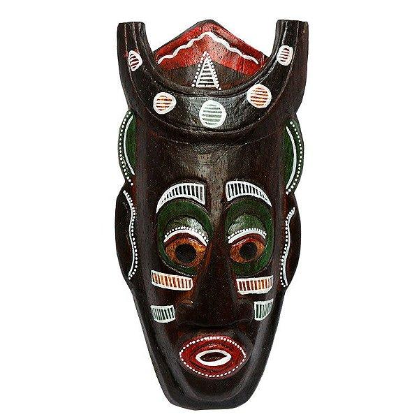 Máscara em Madeira Africana 20cm